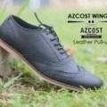 Sepatu Pria Azcost Wingtip Kulit Pull Up