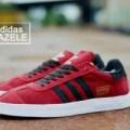 sepatu skate adidas gazele merah hitam