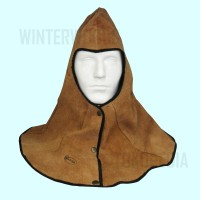 Brown Leather Welding Hood (Topi Las Kulit Coklat)