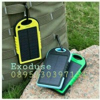 Power Bank 100000 mAh Solar + Lampu Led Charger Tenaga Surya Matahari