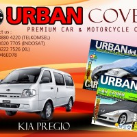 KIA PREGIO BLACK SILVER COVER SELIMUT MOBIL URBAN ANTI AIR WATERPROOF