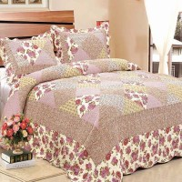 Quilting bed cover sprei flower bunga shabby chic vintage