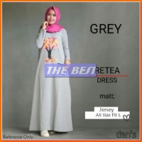 Baju Muslim Baju Dress Muslim Ratea Sablon Dan's Grey Jersey VS 128