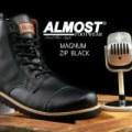 Sepatu Pria Almost Magnum Resleting Boots - FREE 1PASANG KAOS KAKI #1