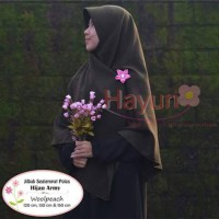 hayuri jilbab segiempat polos 120 cm