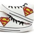 sepatu lukis converse superman
