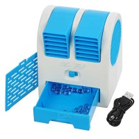 Ac Portable Mini Duduk Double Fan /Mini Fan / Mini Ac Air Conditioning