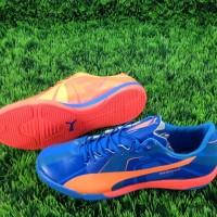 Sepatu Futsal Puma EvoSPEED Clownfish Blue Orange