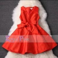 Jual MUBP16 DRESS KOREA PINK A45 Baru   Baju Gaun / Dress Anak Terba