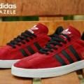 sepatu pria running adidas gazele merah list hitam best seller