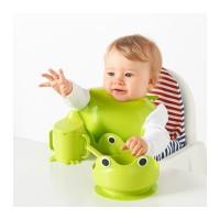 IKEA MATA Set Makan Anak Bayi Warna Hijau Mangkok Mug Sendok Celemek