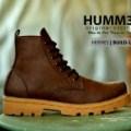 Sepatu Boots Tracking Pria ORIGINAL Hummer Hermes Brown Build Up Sole