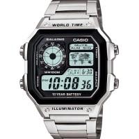 casio AE1200WHD-1 jam tangan pria stainless original bergaransi kotak
