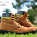 Sepatu Boots CAT Pria Euro Hight Brown Suede
