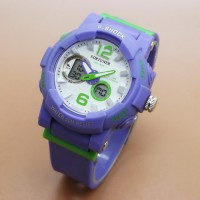 Jam Tangan Wanita Fortuner Original Double Time Ungu