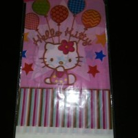 table cover / taplak meja plastik ulang tahun karakter hello kitty