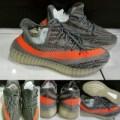 Sepatu Kets Skate Adidas Yeezy Boost 350 SPLY V 2 Grey Orange Abu Oren