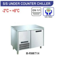 under counter chiller stainless steel/lemari sayur,buah m-rw6t1h