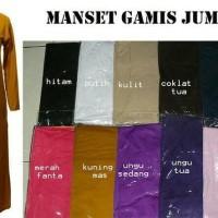 Manset Gamis/ Gamis Kaos Size Jumbo Bahan Adem Harga Murah Murah