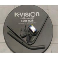 Antena Parabola Kvision + LNB Ku Band + Kabel RG6 Ninmedia K-vision