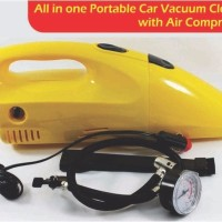 2 in 1 Tire Inflator Pump Air Compressor Portable Car Vacuum Cleaner