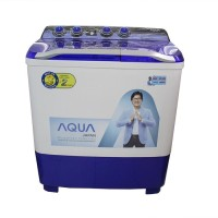 AQUA SANYO QW-1080XT Mesin Cuci 2tabung Kapasitas 10kg - Model Terbaru