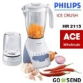 BLENDER PHILIPS HR 2115 PLASTIK 2 LITER ICE CRUSH - Philip HR2115