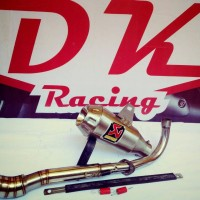 knalpot racing Akrapovic Gp honda Supra X 125 fullsystem