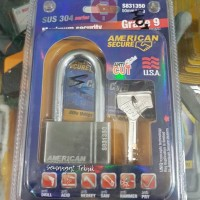 GEMBOK AMERICAN TOOL 50mm LONG PANJANG ANTI POTONG CAIRAN KIMIA 50 mm