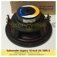 Speaker Subwoofer Legacy 10 inch LG 1095 200 Watt /Subwufer 10