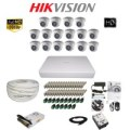 Paket Lengkap A CCTV Hikvision THD 7116 16CH Indoor 2MP 2TB @100Meter
