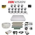 Paket Lengkap A CCTV Hikvision THD 7116 16CH 10in + 6out 2MP 2TB @100M