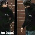 SUPER Jaket nike black fleece sweater korea hitam pria terbaru dan mu