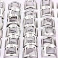 Lots 20Pcs Stainless Steel Finger Thumb Men Ring Bottle Opener Bar Bee