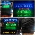 Tulisan Lampu Led Sign Display CHRISTOPEL HASIM ANTONO - Inspirasi OK