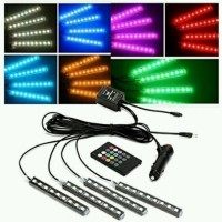 LAMPU LED KOLONG RGB + REMOTE MOBIL WITH SENSOR MUSIC