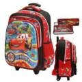 Oke Tas Trolley Anak Sekolah SD Import Cars McQueen 5D Timbul