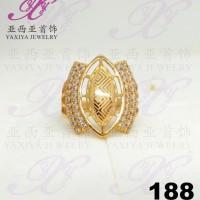 Cincin emas Perisai dua sayap permata Perhiasan imitasi 18k Yaxiya 188
