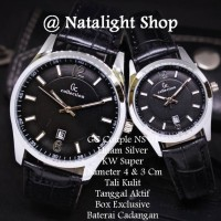 Jam Tangan Couple GC Couple NS 01 Super Kulit Elegan Mewah T1310