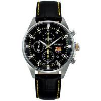 Seiko FCB SNDD25P1 Chronograph Black Leather Watch