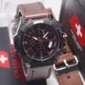 Jam Tangan Pria Swiss Army Kulit Paket Chrono On free tali cadangan