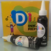 JUAL TINTA PRINTER INFUS CANON/HP BLACK/HITAM D-INK/DINK 100ML WARNA