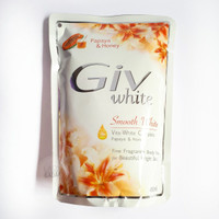Giv Smooth White Papaya & Honey Body Wash Sabun Cair Refill 450 ml