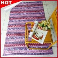 Karpet Kanva Canvas Rug Bohemian ungu Murah di Jakarta
