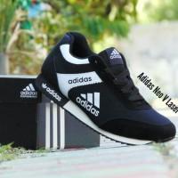 35552 8900b  usa sepatu sport adidas neo v laser hitam putih santai cowok  cewek c8771 ee7b8 1137b300ca