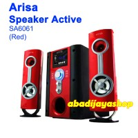 Speaker Aktif Arisa SA-6061 Multimedia 2.1 CH Red (GARANSI)