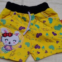 Celana jogger pendek anak / jogger short pants cute little bunny
