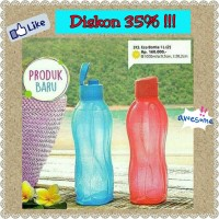 ECO Bottle 1L flip. FREE ECO STAND TUPPERWARE BOTOL TEMPAT MINUM