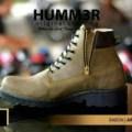 Sepatu boots pria Hummer resleting ringan formal kerja tracking biker