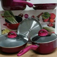 Panci Set Supra 7 pcs COOKWARE SET ROSEMARY TEFLON MURAH